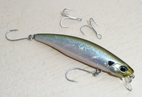 Tide Minnow with Single Hooks